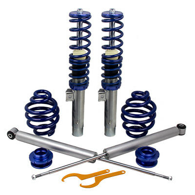 For BMW E46 3 Series 01-05 Adjustable Coilovers Springs Kit Front + Rear