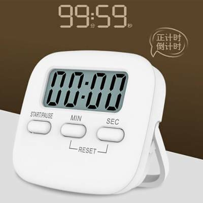 Large Magnetic LCD Digital Kitchen Countdown Timer Stopwatch Alarm with Stand