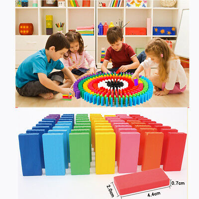 120pcs/lot Dominoes Wooden Building Toy Blocks Educational Kids Trail Game Toy