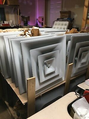 Lot of 32 Ceiling Drop Air Diffusers Commercial Grade 2'x2'