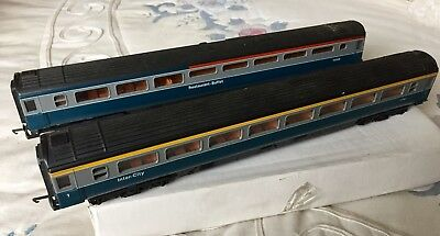 2 Lima P160 Mk3 BR Intercity Blue Grey livery coaches 00 gauge Model Railways
