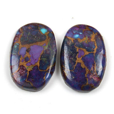 15x10 mm PURPLE COPPER TURQUOISE Oval Flat Gemstone 10.5 Cts Top Seller s-21759