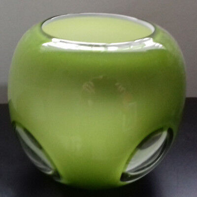 Art Glass White Cased Bowl Possibly Holmegaard?