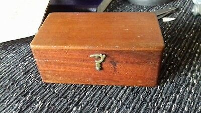 vintage wooden box with lid Brass fittings lot of age worth a look poss TREEN