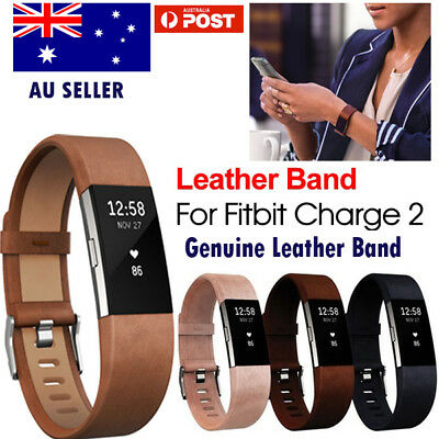 NEW Fitbit Charge 2 Leather Wrist band Watch Strap Replacement Genuine AUS SALE