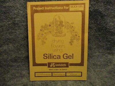 Project Instructions For Drying Flowers w/ Silica Gel Sheet Leewards Crafts 1975