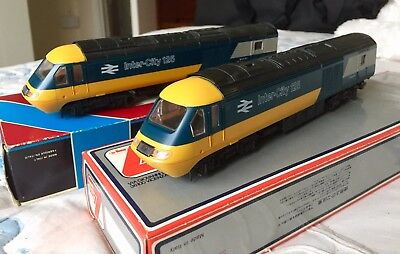 2 X Lima Class 43 HST Power & Dummy Car BR 80s Intercity Grey/Blue Livery Models