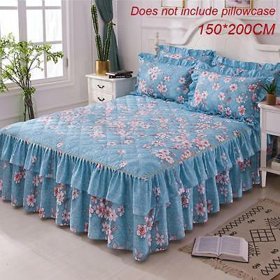 Comfy Warm Thickening Floral Bedspread Bed Skirt Cover Sheet Pillowcase Bedding
