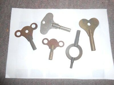 5 x old clock keys