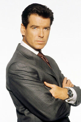 Pierce Brosnan Large Poster James Bond Iconic Pose In Suit