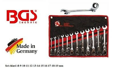 Serie 12 combination wrenches ratchet wrench jointed 6-19 mm Bgs 30002