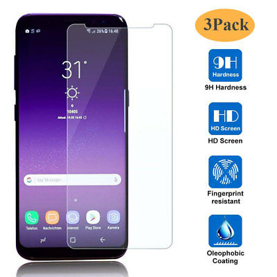 3Pack 9H Tempered Glass Film Screen Protector for Samsung Galaxy A6 A8 Plus 2018