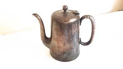 A Hotel Jug Quality Vintage Antique Silver Plated Coffee Pot / Hot Water Jug