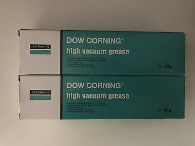 2 x Dow Corning High Vacuum Grease - 50g - CHEAPEST ON EBAY (100g Total)