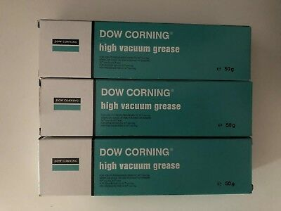 3 x Dow Corning High Vacuum Grease - 50g - CHEAPEST ON EBAY (150g Total)