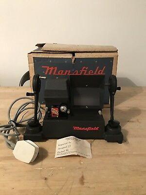 Vintage Rare Mansfield E-650 8mm Movie Film Editor Viewer, Original Box