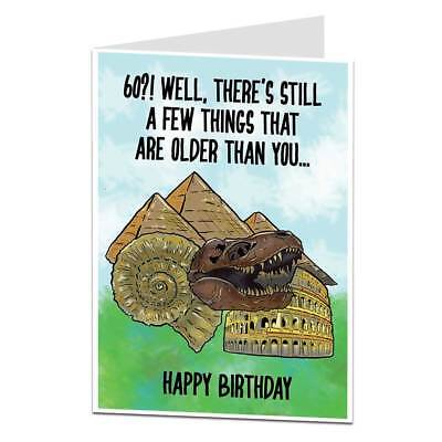 Funny 60th Birthday Card 60 Today Him Her Men Women Perfect For Mum & Dad