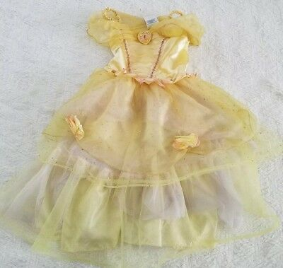 Belle costume Girls Size 5/6 Disney store Princess Yellow Beauty and the Beast