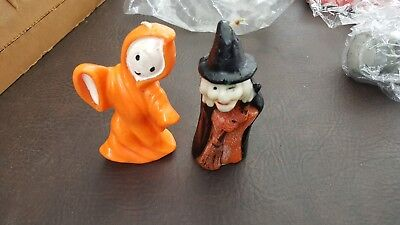 "Gurley Candle, 6"" WITCH AND Ghost in Cape, HTF, Nr Mint Cond.."