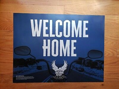 *RARE*  115th Anniversary Harley Davidson  Welcome Home Ride Parade Poster 18x24