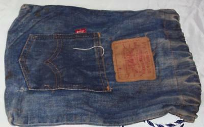 Rockabilly Old Vintage Faded Hippie Levi Denim Jean Purse Bag Tote Mod Well Use