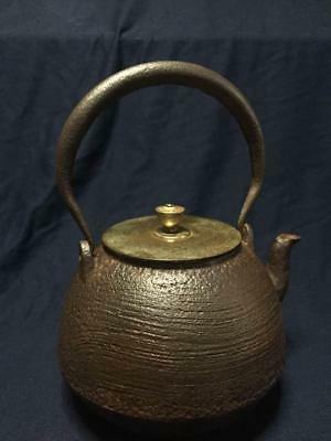 Japanese Antique Vintage Tetsubin Tea Pot Ryubundo Tea Ceremony