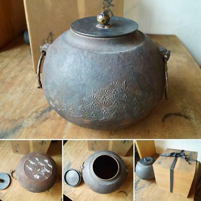 Japanese Antique Vintage Chagama Teapot Tea Ceremony Owarigama