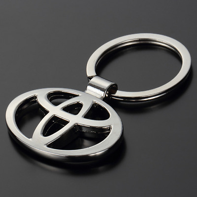 3D Metal Double Side Car Logo Hollow out Keyring Key Chains Holder for Toyota