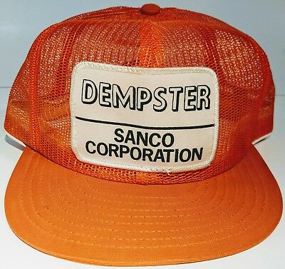 VTG Rare Dempster Sanco Corp Louisville Mfg Co All Mesh Trucker Hat Cap Snapback