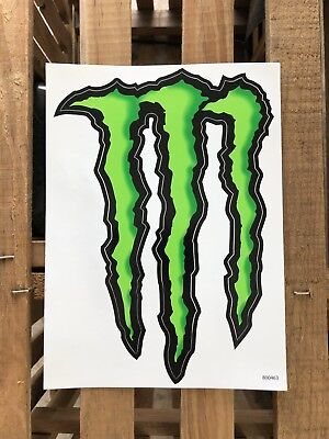 "4 Monster Energy Logo Stickers Decals 8.5"" X 6"" Each (Large)"