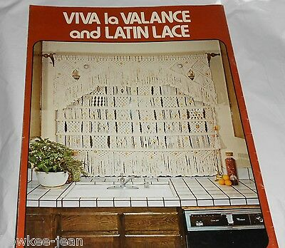 Macrame window dressings: curtains drapes valances shade  New vintage book