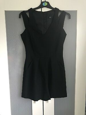 F&F Black Playsuit With Pockets Size 6