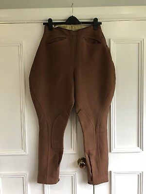 1940s True Vintage Brown Wool Jodhpurs With Pockets Size Small