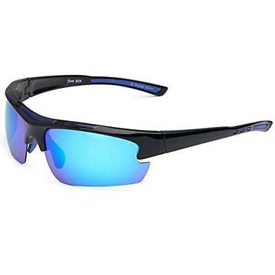 Siren Polarized Sports Sunglasses with TR90 Unbreakable Frame and Case
