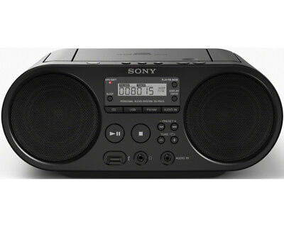 SONY ZS-PS50B CD Player Radio MP3 USB Batteriebetrieb Schwarz