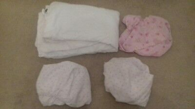 Girls Cot Toddler Bed Fitted Sheets And Duvet