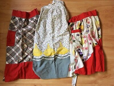 Super Cute Lot of 3 Vintage half aprons in great condition check them out! retro