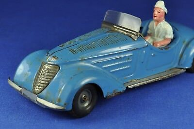 Blechauto / Tin Car: TippCo TCO Sportwagen, blau / Sports Car, blue, 1939-1950