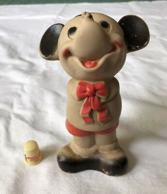 Vintage Disney Mickey Mouse 1933 Chicago World's Fair Thimble and Dell Squeaky