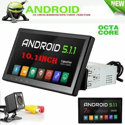 "10.1"" Quad Core 1DIN Android Autoradio GPS Bluetooth Navigation + Rückfahrkamera"