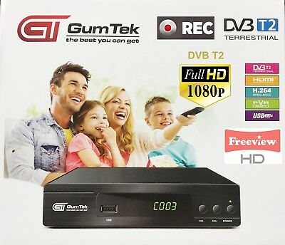 GumTek Full HD Freeview Set Top Box Plus RECORDER Digital TV Receiver  Digi Box