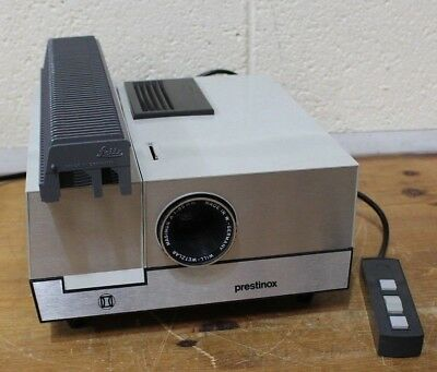 Vintage Retro PRESTINOX 35mm Slide Projector Cased Leitz Made in France - 250