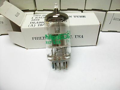 Sleeve Of 5 Jan Philips Ecg 5879 Tubes