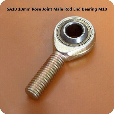 1Pcs POS10 10mm Rose Joint Male Rod End Bearing M10 Right Hand Thread