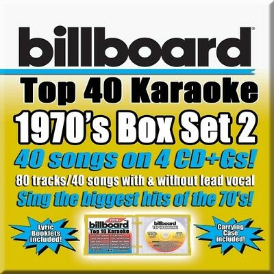 Billboard 70's Box Set 2 - 4 DISC SET - Billboard Karaoke (2018, CD NUOVO)