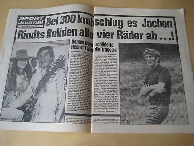Sport Journal 6. September 1970 - Jochen Rindt Tragödie in Monza, mehrseitig