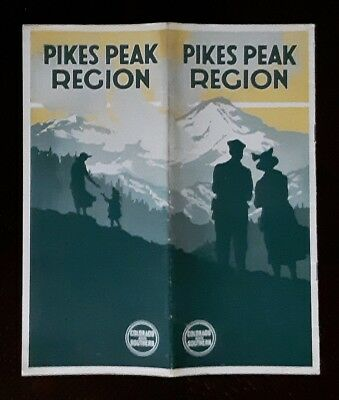 Colorado & Southern Railway 1923 Pikes Peak Region -C&S -CB&Q -EXC
