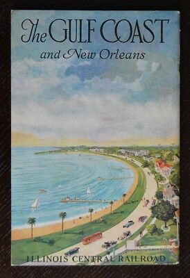 Illinois Central Railroad 1909 New Orleans -French Quarter -Mardi Gras -IC -EXC