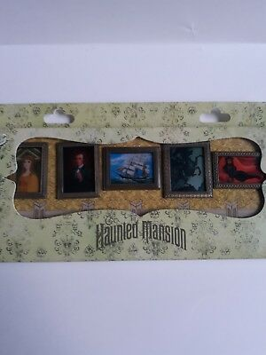 Disney Haunted Mansion O'Pin House Changing Portraits 5-Pin Boxed Set limited ed