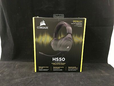 Corsair HS50 Stereo Headphones Gaming with microphone Detachable PC/PS4/Xbox